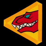 Kyoryu Red Embroidered Patch