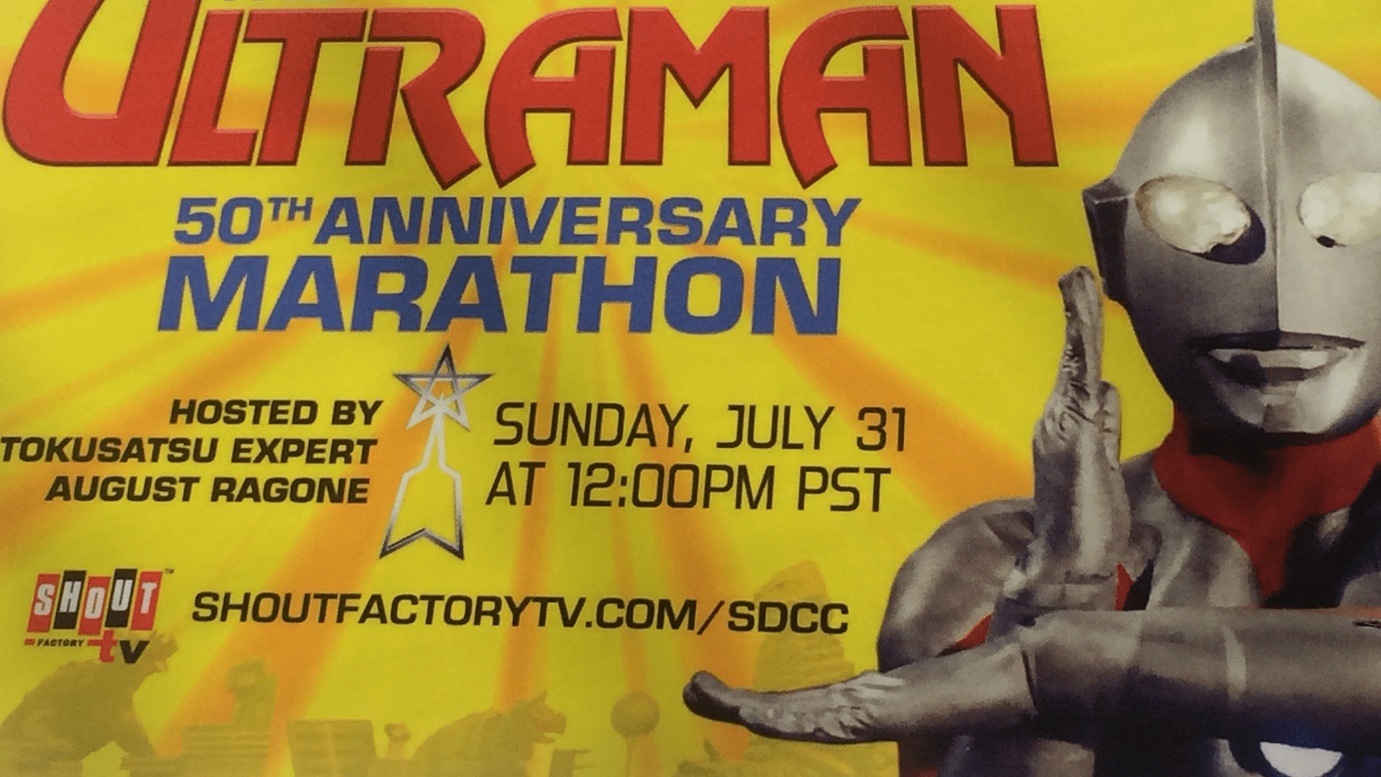 Shout! Factory Holding The Ultraman 50th Anniversary Marathon