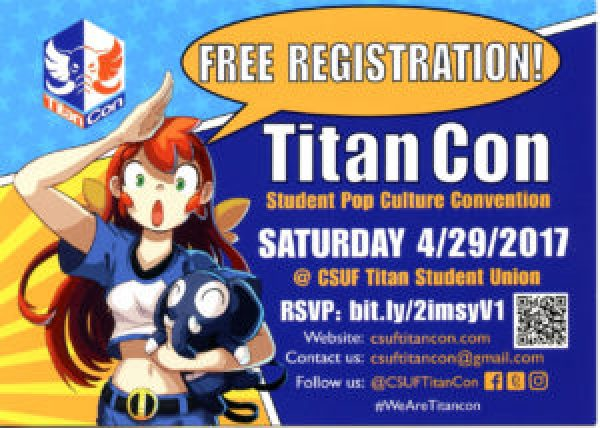 The flyer Mark created for Cal State Fullerton's Titan Con 2017