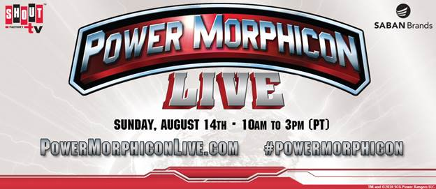 Shout! Factory TV's Power Morphicon LIVE Event Details