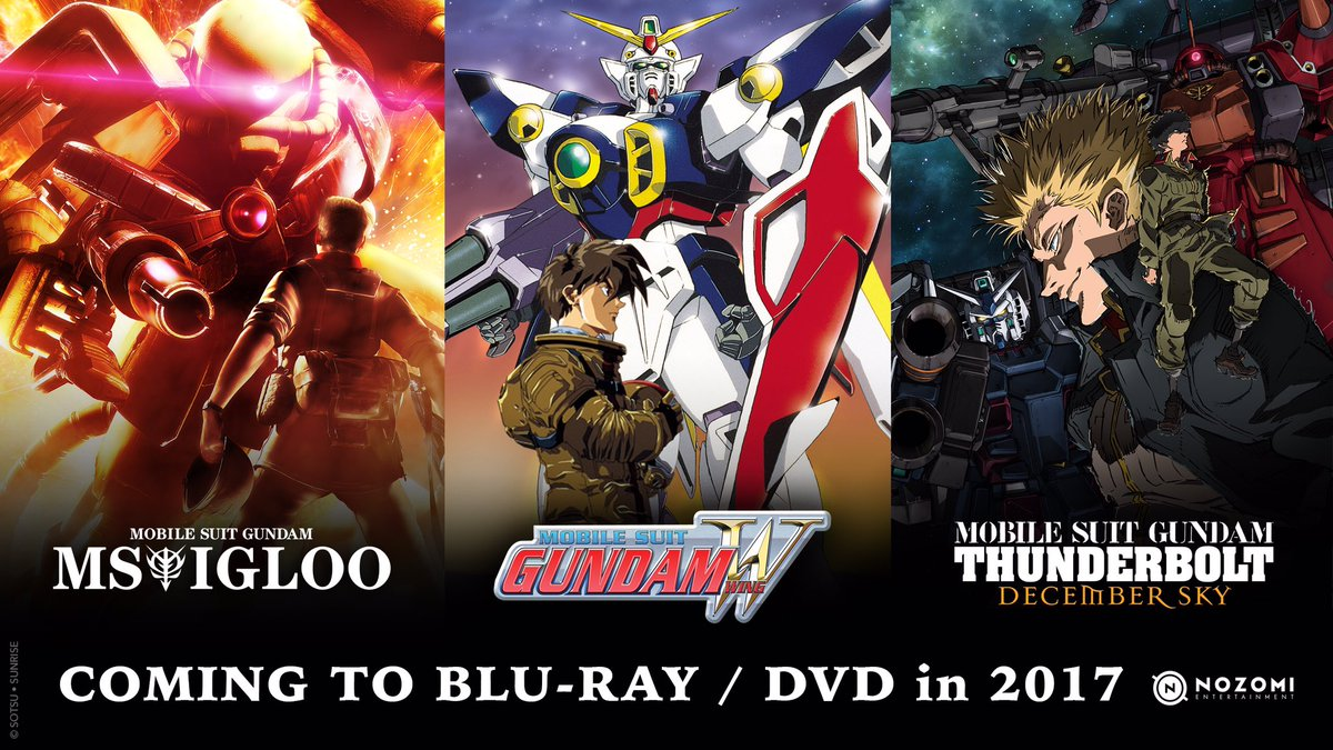Nozomi Entertainment Announces Blu-ray/DVD Releases for 3 Gundam Works
