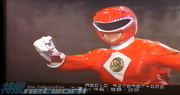 Red Ranger sans mouthpiece.