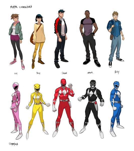 Go Go Power Rangers Characters