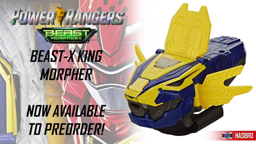 Beast Morphers rolls into a second season with new toys! Click here to preorder the Beast-X King Morpher.