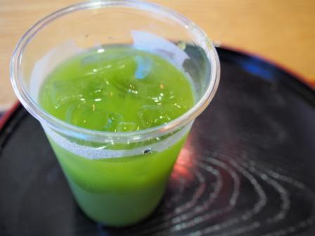 Cold Green Tea in Nakamise Street, Asakusa, Tokyo, Japan.