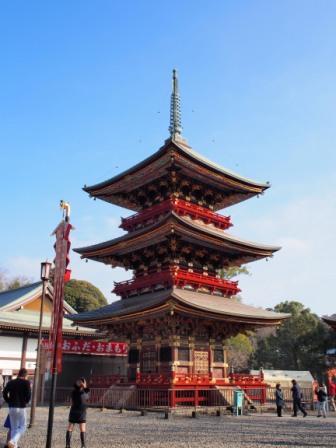 Pagoda of Narita san Shinshoji Temple, Japan.