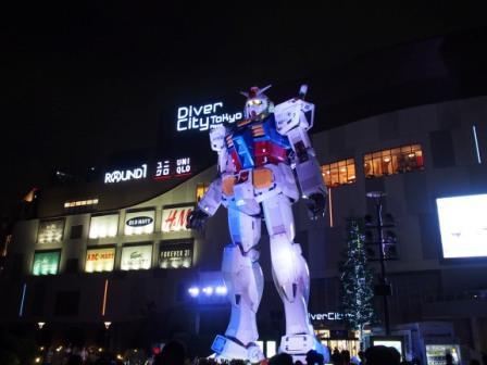 Full Scale Gundam in Odaiba, Tokyo, Japan