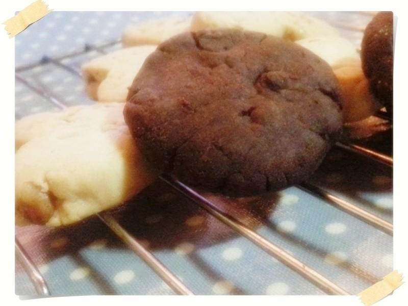 不用秤的可可巧克力豆奶油餅乾 by Money's mon的雜炊筆記 - 愛料理