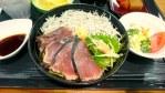 ヤフー社員食堂BASE11で鰹のたたきと釜揚げしらす丼にパティシエの作る羊羹!