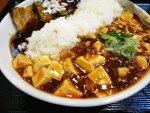 赤坂見附:チャイナ白魂 麻婆豆腐と豚角煮のがっつりハーフ&ハーフ丼!