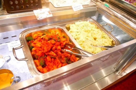 キムチと豆腐サラダ