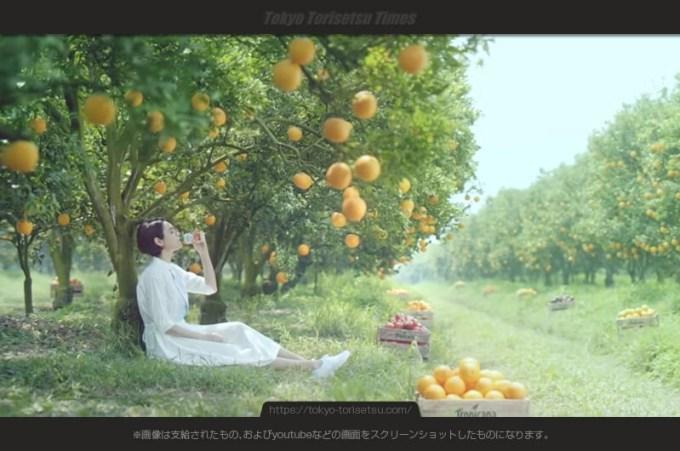 トロピカーナエッセンシャルズCMオレンジ畑で鉄分補給の女性は?大屋夏南(おおやかな)出演