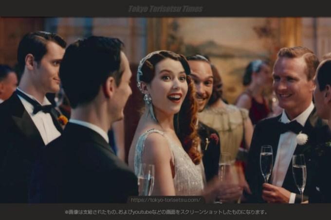 オランジーナ先生がドレスアップ!フレンチスパークリングCM!バースディパーティが豪華