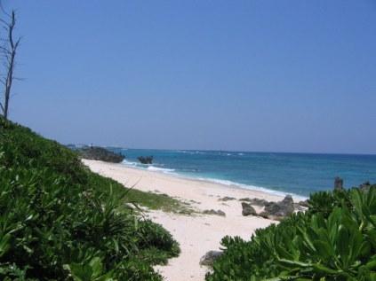 大金久海岸砂浜入口