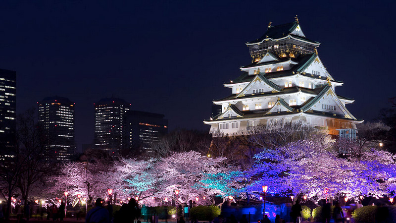 Ninshinomaru kasteel in Osaka Japan