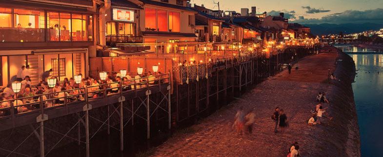 Kyoto houten kade