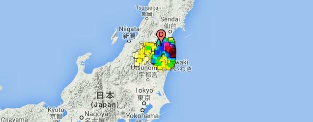 actuele straling Fukushima 2014
