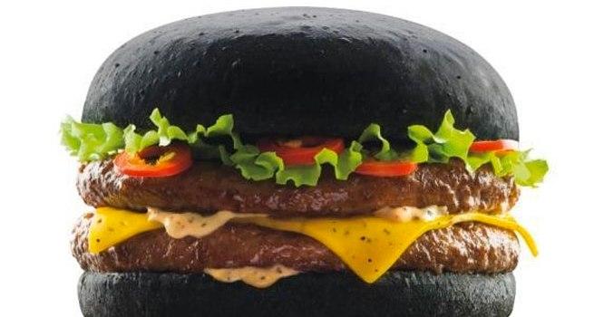 zwarte hamburger Japan