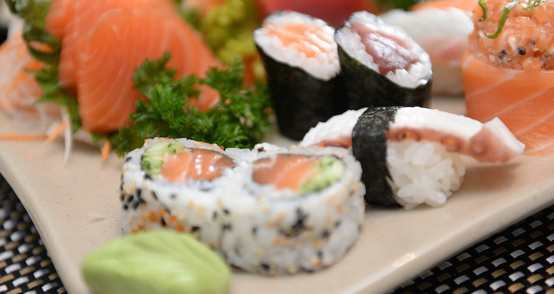 Traditioneel Japans eten is sushi