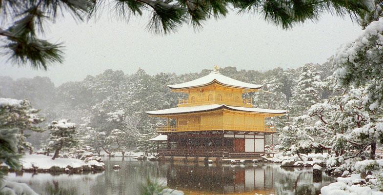 Kinkaku-ji tempel in de winter