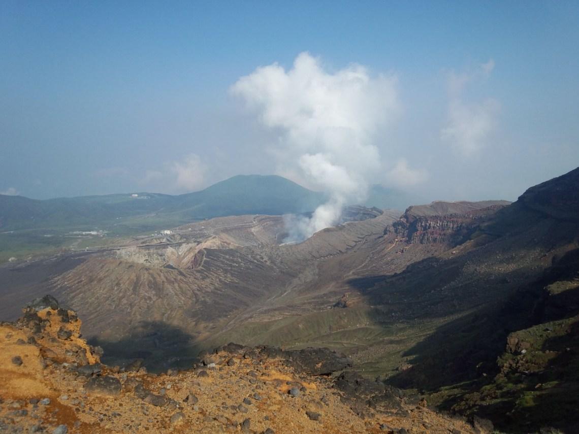 Aso vulkaan Kyushu Japan