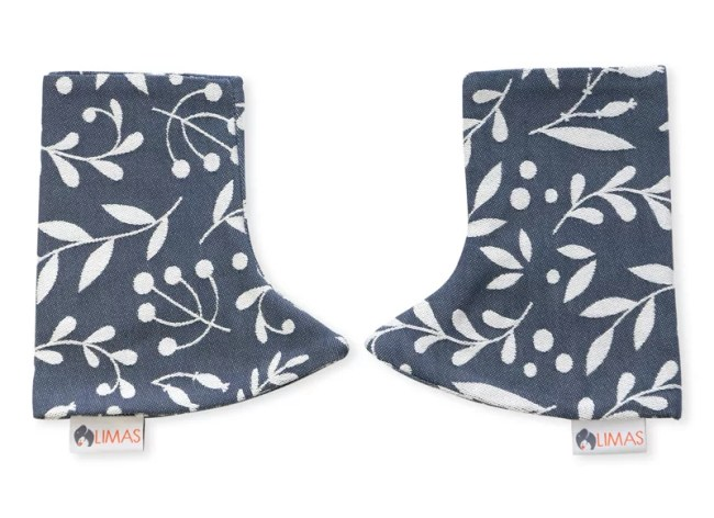 Drool Pads Flora Cool Grey
