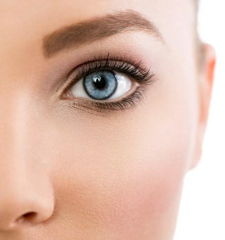 Close up of beautiful blue eye
