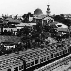 Dome and Minaret of old Tokyo Camii.