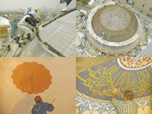 Scenes from reconstruction of Tokyo Camii