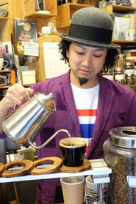 Mr. Hayashi of Arise Coffee Roasters