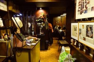 Interior of Cafe de Lambre Kissaten Cafe in Ginza Tokyo Japan