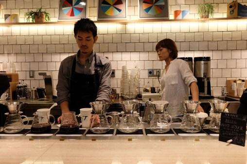 Pour-Over Station at Verve Coffee Roasters Shinjuku Tokyo Japan