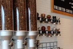 Workspace Wall at Unlimited Coffee Bar in Narihira Tokyo Japan