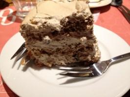 Tiramisu tasting birthday cake