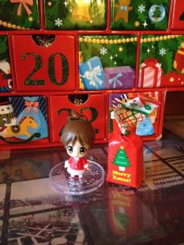 Hello, little tea bottle freebie Christmas girl