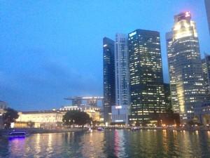 シンガポールの夜景。綺麗です。