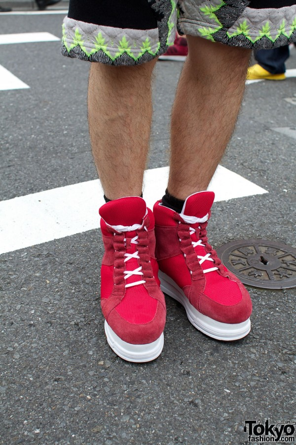 Banal Chic Bizarre red platform sneakers