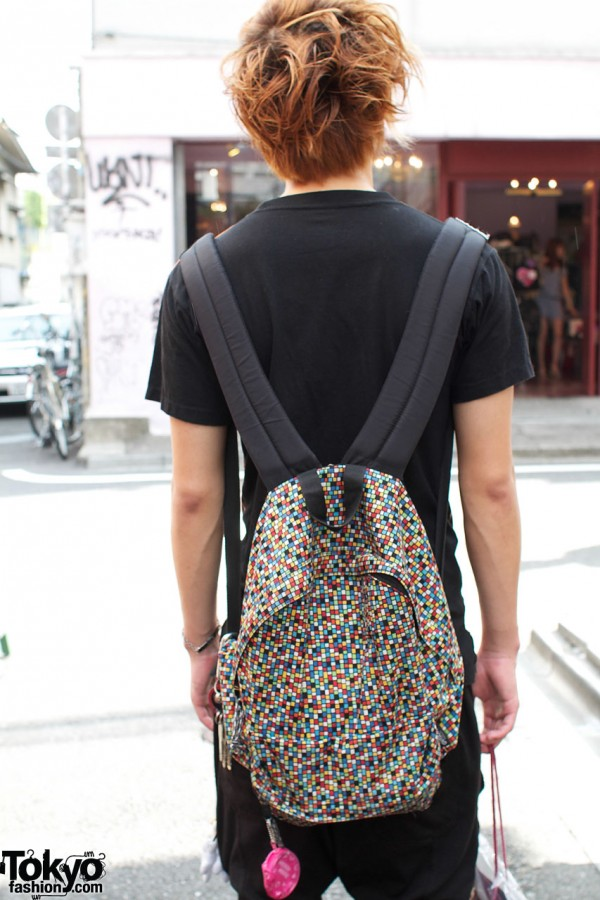 Bright print backpack