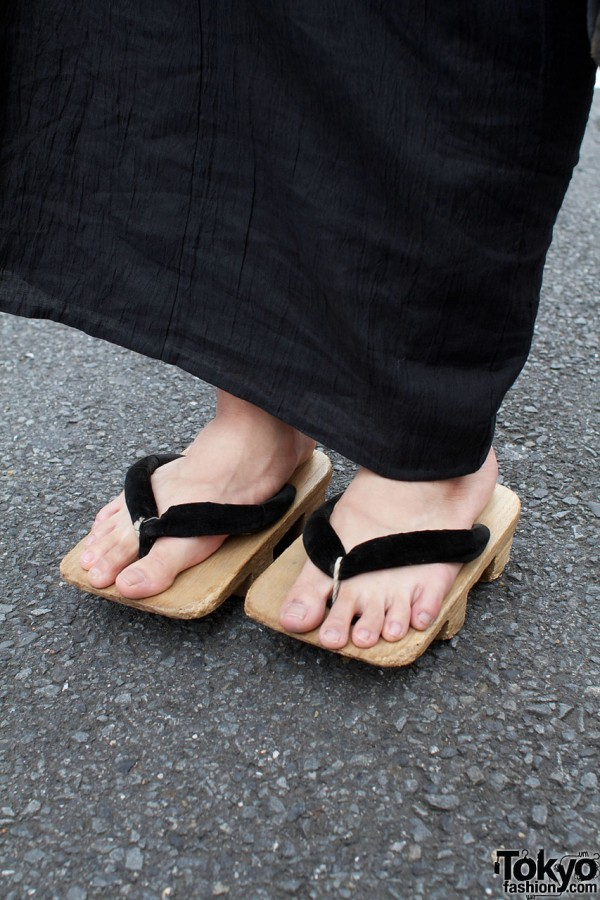 Wooden geta sandals