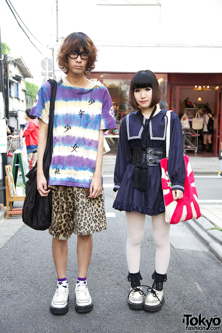 Japanese School Uniform inspired Harajuku Street Fashion Harajuku Guy   Girl Street Fashion
