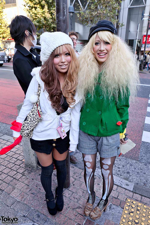 Shibuya Girls W Two Tone Amp Blonde Hairstyles Hats