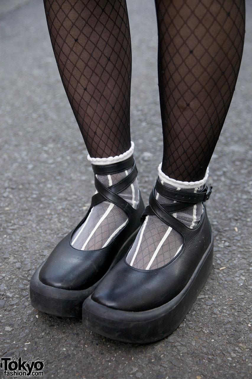 Vintage Acid Wash Jacket Amp Tokyo Bopper Platform Shoes In