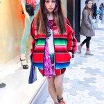 Hirari Ikeda In Mexican Blanket Jacket Moonspoon Saloon Tokyo Fashion