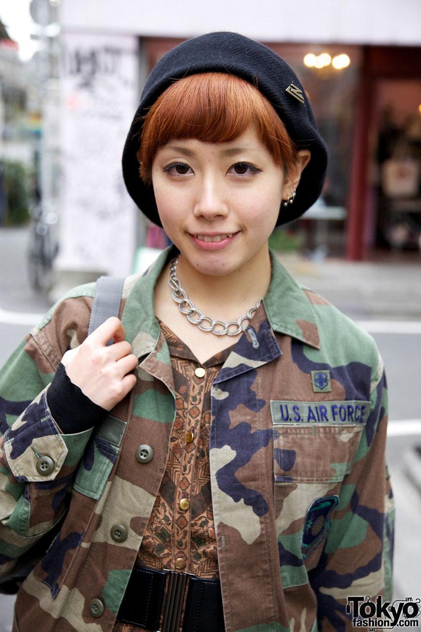 US Army Camouflage Jacket In Harajuku Tokyo Fashion News