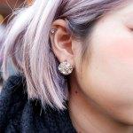 Lilac Hair W Faux Fur Coat Tattoo Tights Rocking Horse Shoes In Harajuku