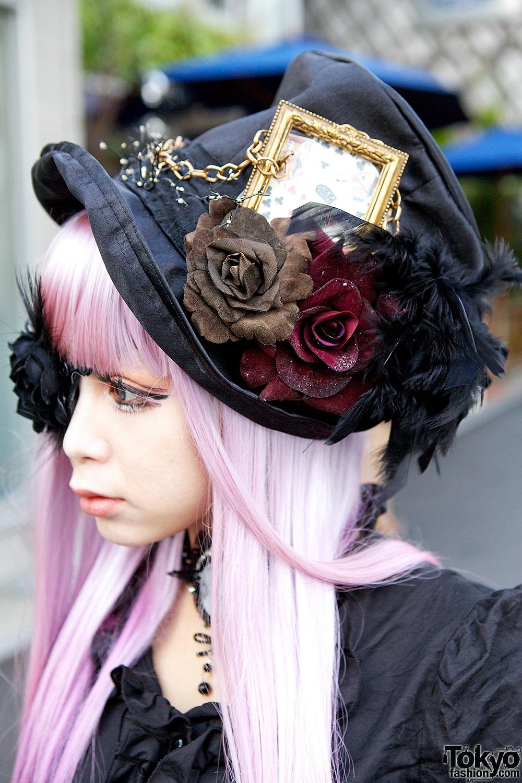 Striking Harajuku Gothic Style W Pink Hair Eye Patch