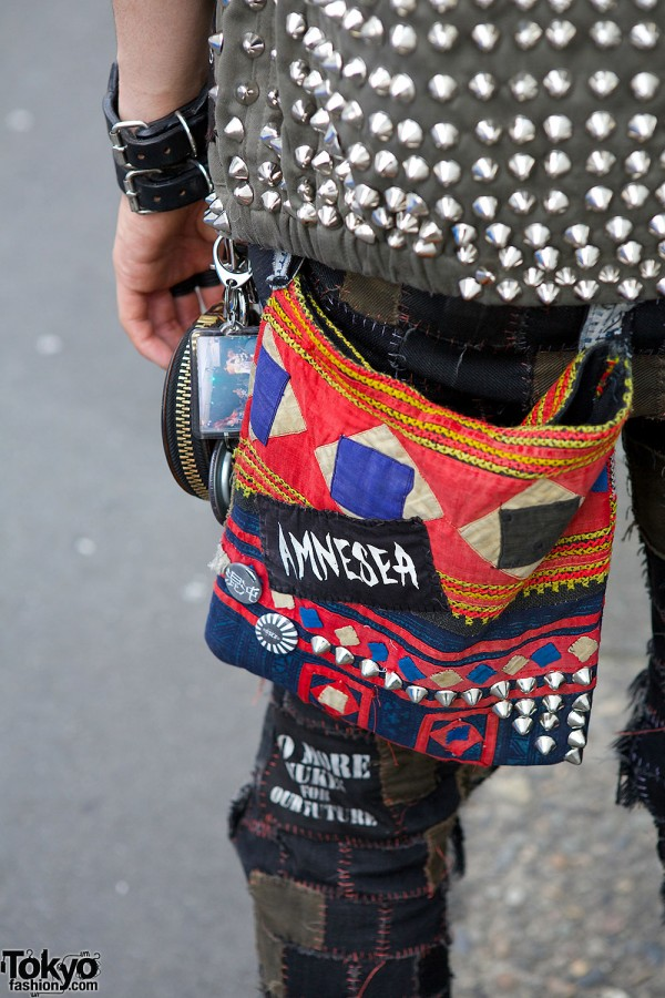 Crust Punk Patch Pants Disk Union Bag Amp Studded Vest In