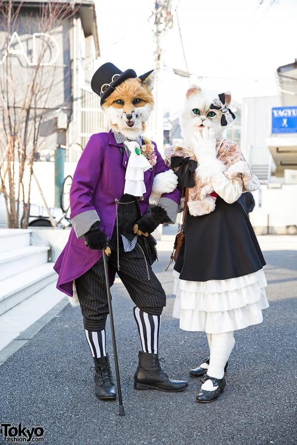 Furry Harajuku Fox & Cat