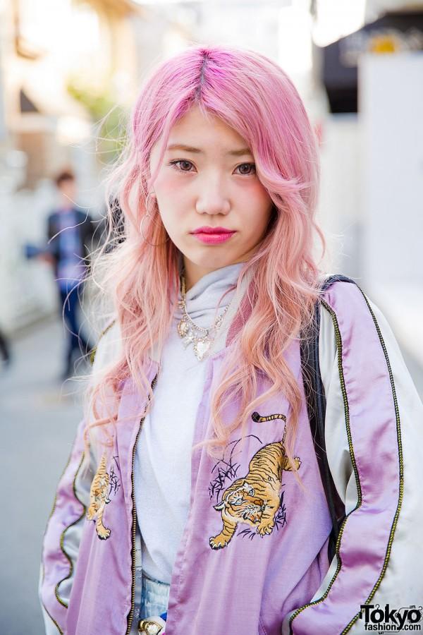 Pink Hair Japanese Souvenir Jacket Pajama Pants Amp Tokyo