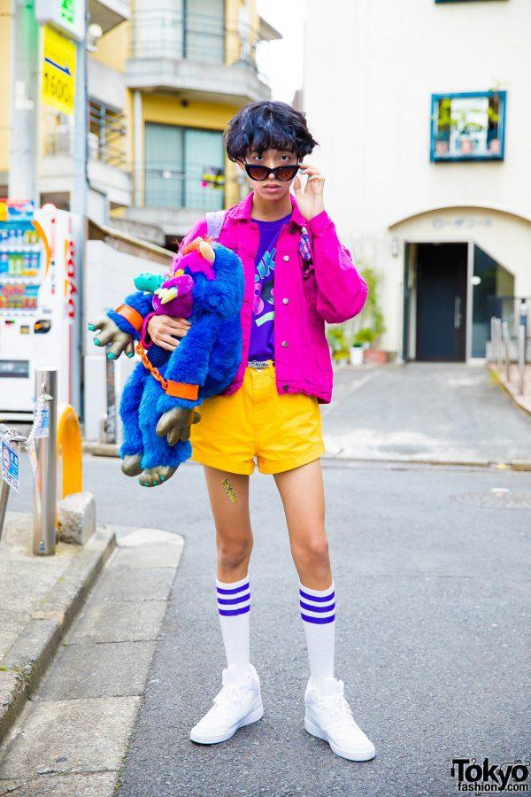 Colorful 1980s Retro Street Style W Peco Club WC
